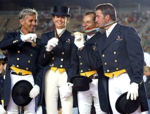 Equipo español que consiguó la medalla de plata en las Olimpiada de Atenas, de izquierda a derecha: Jiménez Cobo, Ferret Salta, Soto y Rambla.