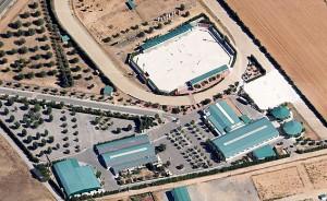 Vista aérea de las instalaciones hípicas de Toledo.