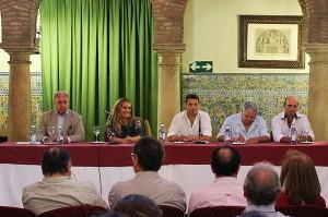 José Fuentes, Inmaculada Estévez, Joaquín Zurita, Luis Mahíllo y Joaquín Aguilera