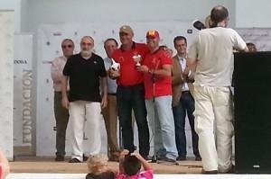 Marcos Márquez y Federico Calzado durante la entrega de premios.