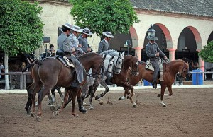 Carrusel vaquero por parte de los jinetes de Córdoba Ecuestre. Foto: Ramón Azañón