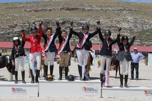 Podio de medallistas de Castilla y León de Ponis CCE.