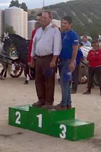 1º José Barranco, 2º Antonio Repullo y 3º Antonio López.