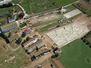 Vista aérea de las instalaciones del Club de Equitación Torredembarra.