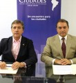 Acuerdo de colaboración suscrito en la sede principal de la Fundación Ciudad en Madrid por Juan Tirado, presidente de ANCCE y Tomás Vera, presidente de la Fundación Ciudad.