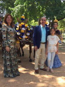 Sonia Rojas, Ignacio Enríquez e hijas.